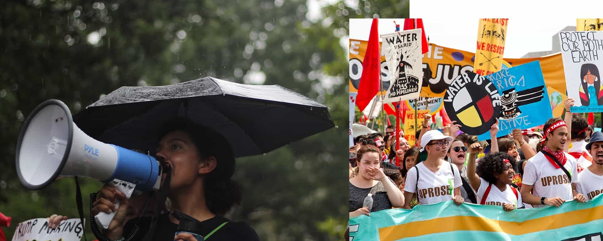 Climate Justice March and Trump Protest